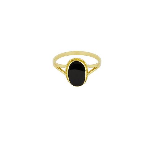 Oval Souvenir Ring Black