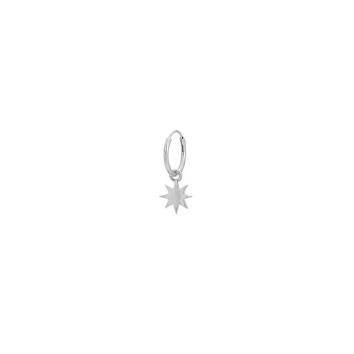 Single Nova Ring Earring Silver