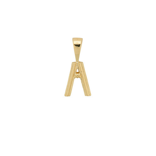 Pyramid Initial Necklace Charm