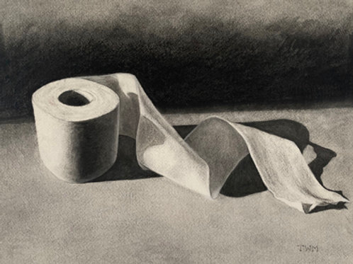 """""""March 2020""""  Charcoal Drawing 10x13"""""""