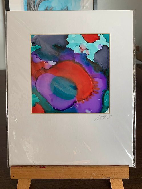 """5x5"""" Alcohol Ink Painting"""