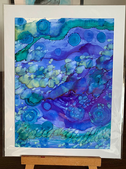 """11x14"""" Alcohol Ink Painting"""