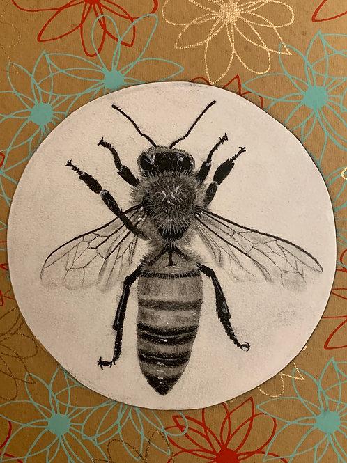 """""""Bee"""" Mixed Media 8x10"""""""