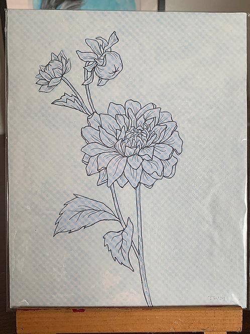"8x10"" Botanical Mixed Media"