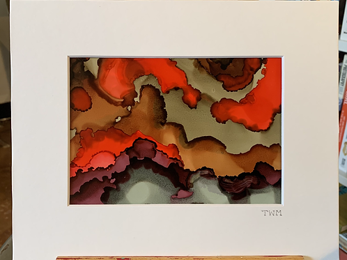 "5x7"" Alcohol Ink Painting"