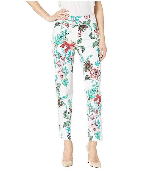 Krazy Larry Pull On Pant - White Floral