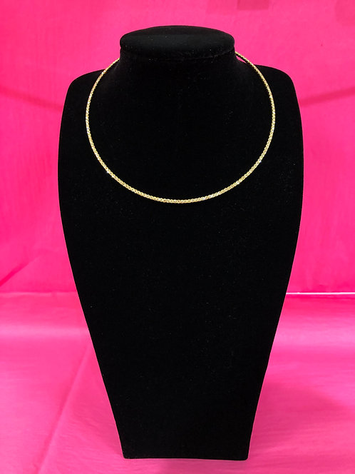 Single Stranded Gold Crystal Necklace