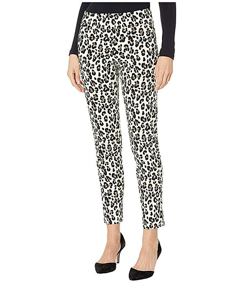 Krazy Larry Pull On Pant - White Cheetah