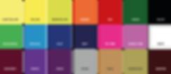 Protetores esportivos - opções de cores