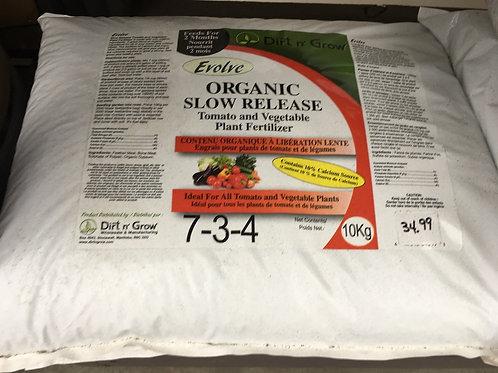 EVOLVE Organic Slow Release Tomato & Vegetable fertilizer - 10kg