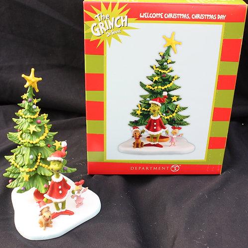 Grinch - Welcome Christmas shelf decoration