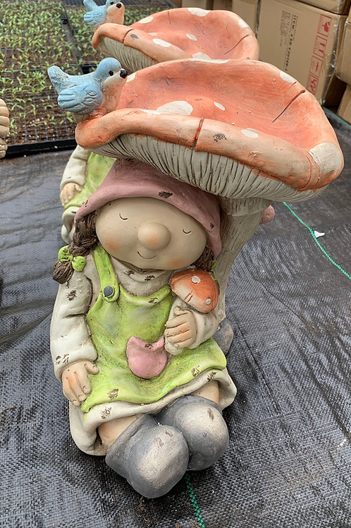 Garden Gnome under Mushroom