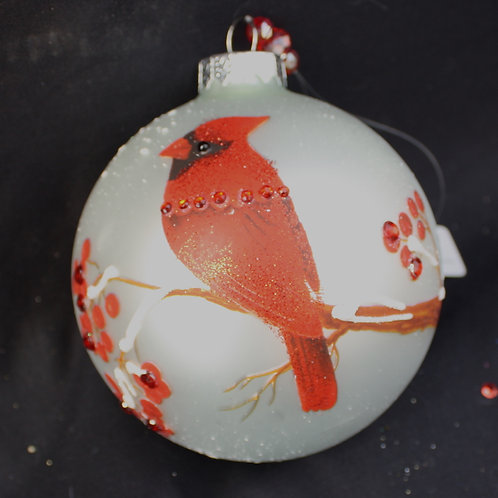 Crystal Expressions Cardinal ball ornament