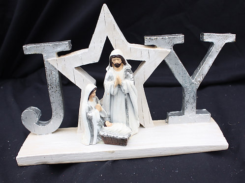 Wood-look Holy Family with Message