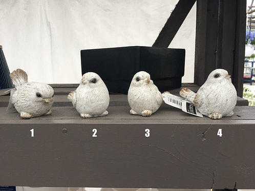 Ceramic grey sparrows