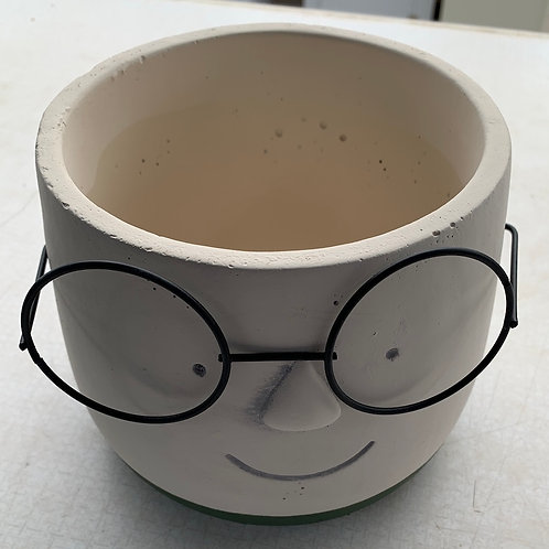 6-inch Face Planter with Glasses