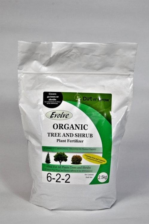 EVOLVE Organic Tree & Shrub 6-2-2 plant fertilizer