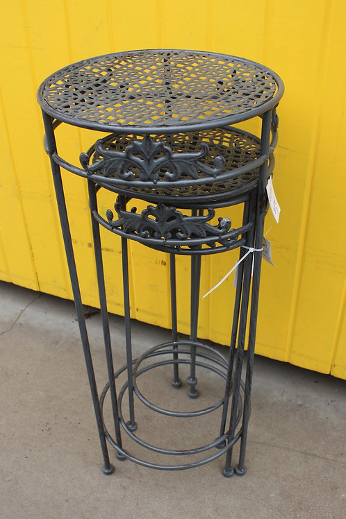 Set of 3 Nesting Metal Plant Stands