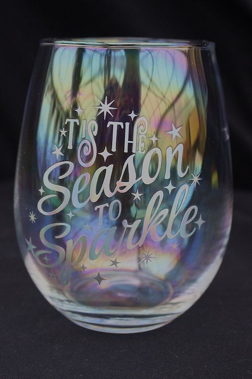 Stemless Iridescent Wine Glasses
