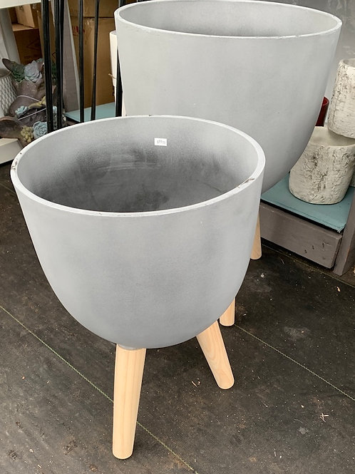 Slate Grey Planter with legs -small