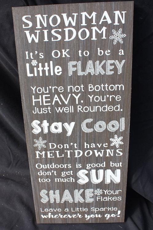 Snowman Wisdom Plaque