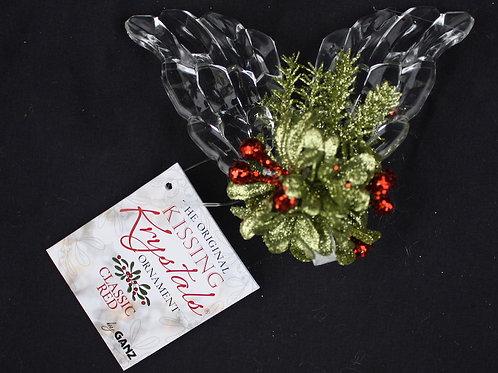 Kissing Krystals Angel Wings Mistletoe