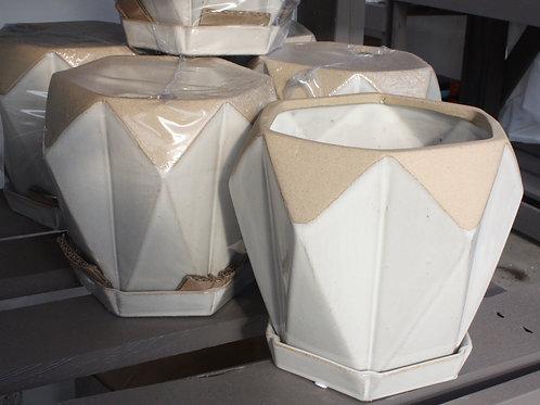 Geometric Shaped Pot (large)