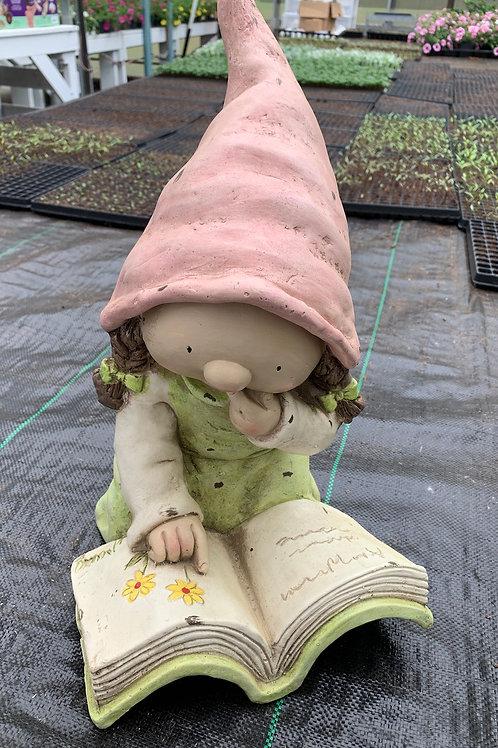 Garden Gnome Reading