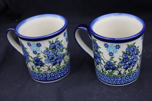 Polish Pottery - Blueberry Mugs