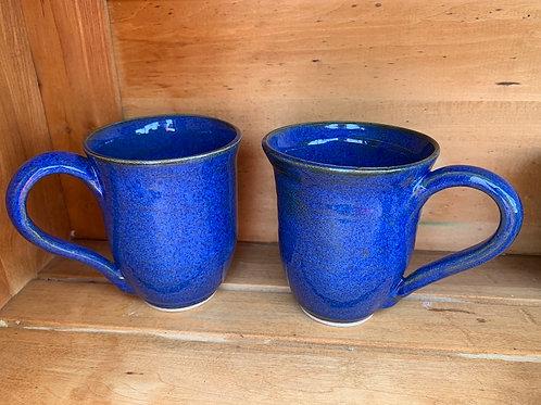 Handmade Pottery - Blue Mugs - large