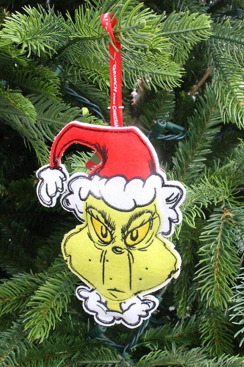 Grinch - Felt tree ornament
