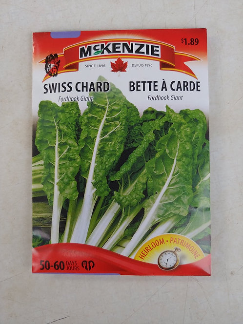McKenzie Swiss Chard (Fordhook Giant) Seeds