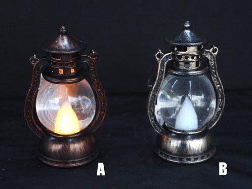 Illuminated Oil Lamp-look snowglobe - small
