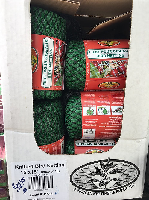 Bird Netting - 15 foot by 15 foot
