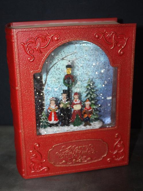 Illuminated Snowglobe-Style Storybook - Carollers