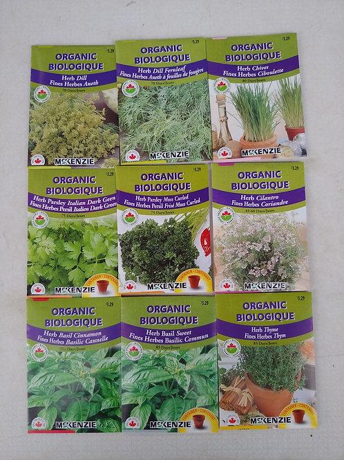 McKenzie Organic Herb Seeds