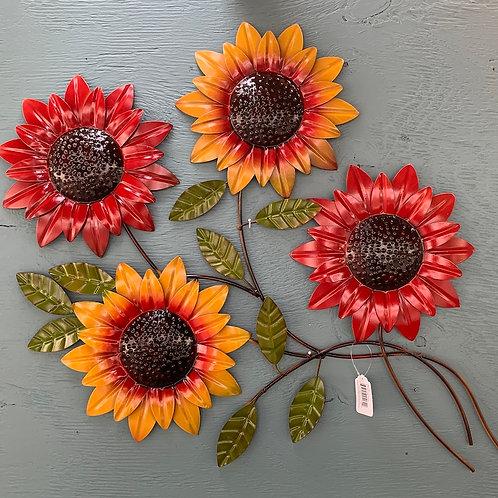 Multicoloured Sunflowers