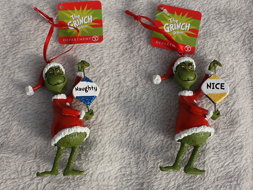 Grinch - Naughty or Nice Reversible Sign