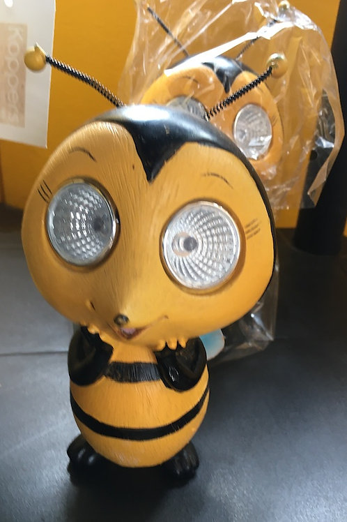 Decorative Bee with Solar-powered Eyes