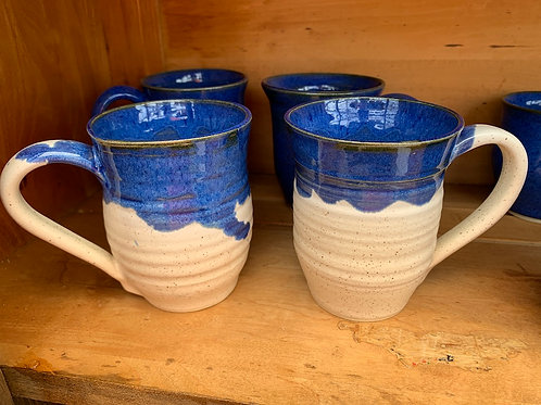 Handmade Pottery - Blue and White Mug