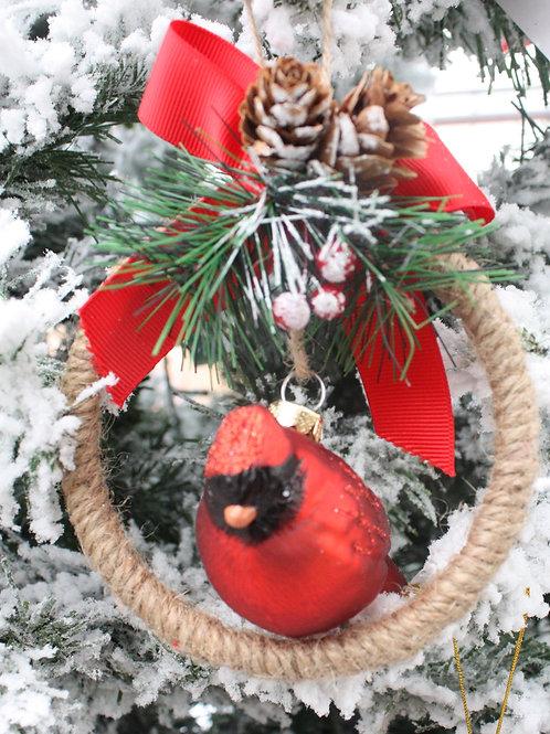 Cardinal in a Wreath