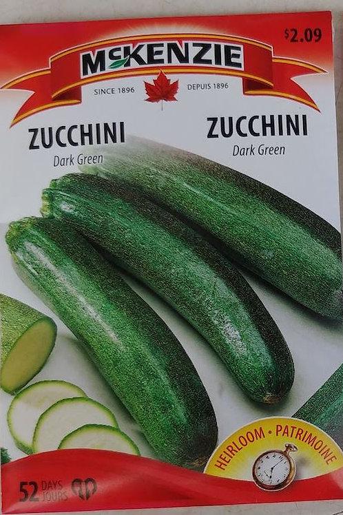 McKenzie Zucchini (Dark Green) Seeds