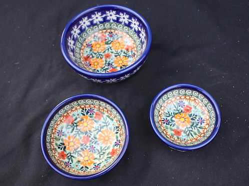 Polish Pottery - 4-inch Floral Bowl