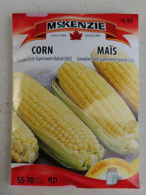 McKenzie Corn (Candian Early Supersweet Hybrid) Seeds