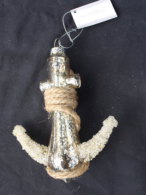 Glass Anchor Rope ornament