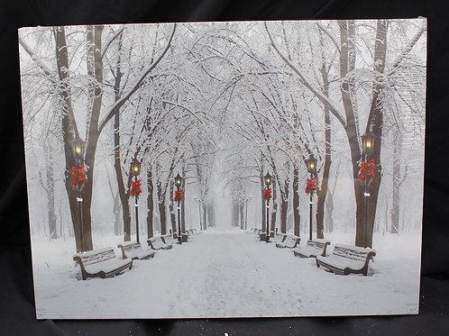 Winter Scene LED canvas