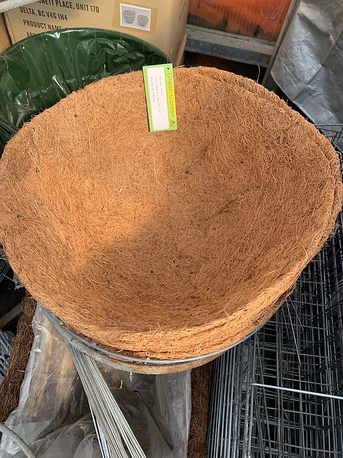 Coco coir liner for 14-inch hanging basket
