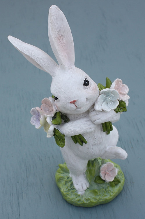 Rabbit with Armful of Flowers