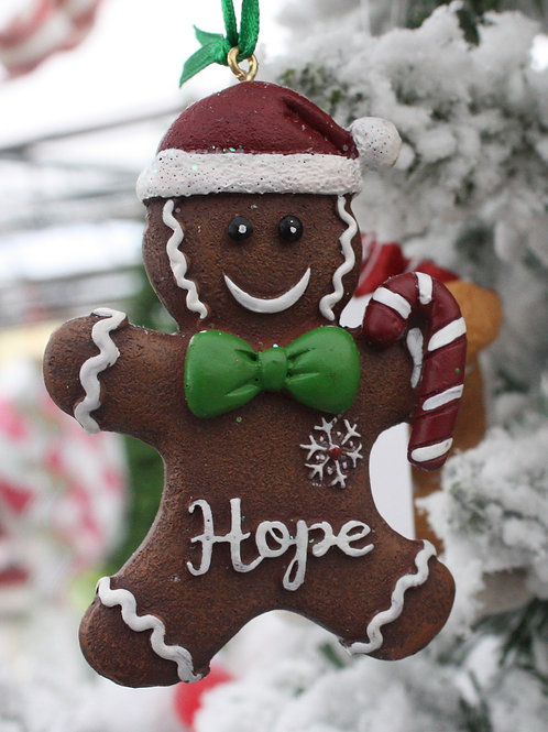 Gingerbread Boy and Girl Cookie ornaments