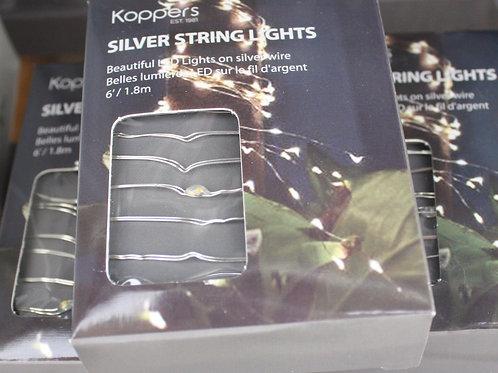 Koppers Silver String Lights